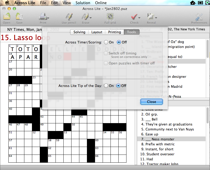 Crosswords puzzle sources preferences tools ccuart Images