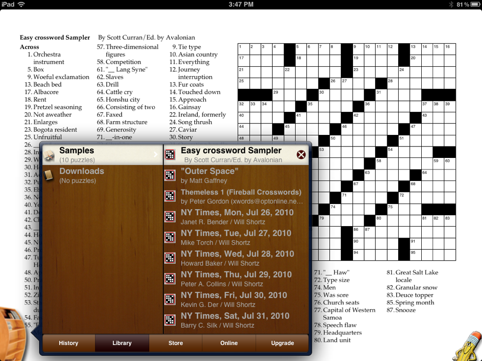 Crosswords puzzle sources ipad library of puzzles ccuart Images