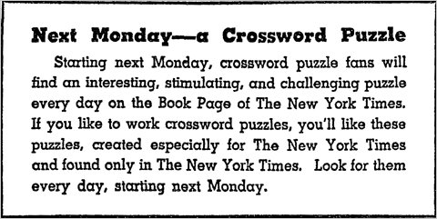 Crosswords history milestones and media nyt begins publishing daily crosswords 9111950 puz pdf spiritdancerdesigns Image collections