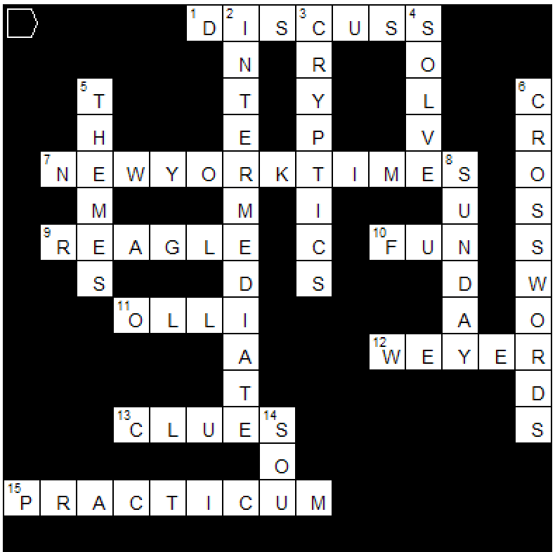 practicum crossword